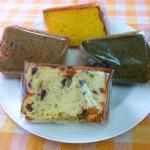 シフォンケーキ(かぼちゃ・チョコバナナ・抹茶黒豆)